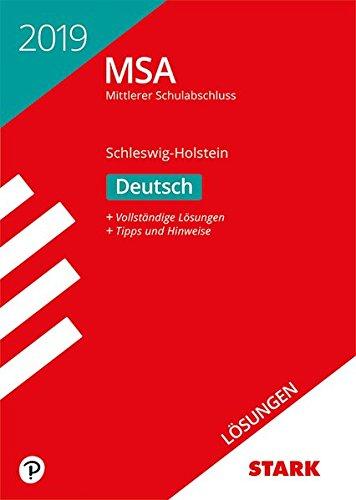 Lösungen zu Original-Prüfungen und Training MSA - Deutsch - Schleswig-Holstein