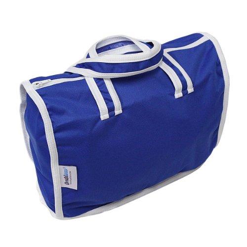 Bambinex 032088BW - Bolso para pañales con asa y cremallera, talla única, color azul