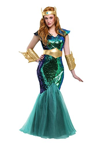 Women's Mermaid Queen Costume Sea Siren Plus Size Costume 1X]()
