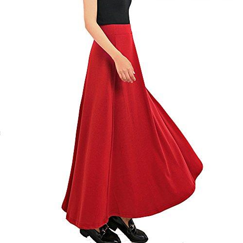 TEERFU - Jupe - Crayon - Femme Red
