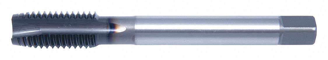 5/16''-24 Machine Tap, Plug, 3 Flutes, Cobalt, Hard Lube Tap Finish