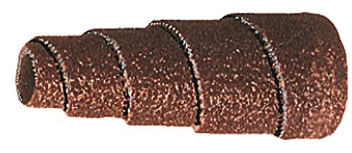 PFERD 41808 Tapered Cartridge Roll, Aluminum Oxide A, 3/8'' Diameter x 1-1/2'' Length, 1/8'' Arbor Hole, 80 Grit, 24000 Max RPM (Pack of 50)