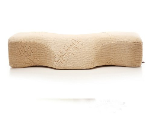 Sleep.E Memory foam pillow inner,super-elastic lining,breathable pillowcase,anti stiff neck by the lengthened size,ease the pressure on the neck by concave arc curve design MO3068B