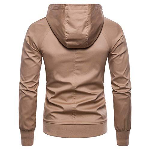 Sportivo Abiti Cappuccio Antivento Hx Taglie Khaki Casual Cappotto Con Fashion Impermeabile Da Comode Uomo 4ZUSnqEZW