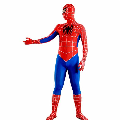 Full Body Spiderman Costumes (Full Body Red and Blue Spider-man Zentai Costume for Halloween Various Styles)