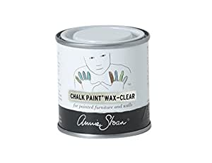 CHALK PAINT (R) Wax - Clear (120mL) - Annie Sloan - Transparent - Matte finish - Seals and protects furniture