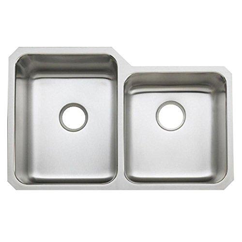 KOHLER K-3177-NA Undertone Large/Medium Undercounter Kitchen Sink, Stainless Steel