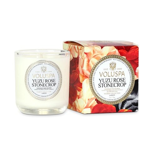 Voluspa Classic Maison Boxed Votive Candle, Yuzu Rose Stonecrop, 3 Ounce ()