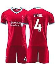 Voetbal shirt 4# Virgil Van Dijk Voetbal Pak, Volwassen, Kind Trainingspak, Ademende Sport Korte Mouwen, Standaardmaat (Color : C, Size : Adult-M)