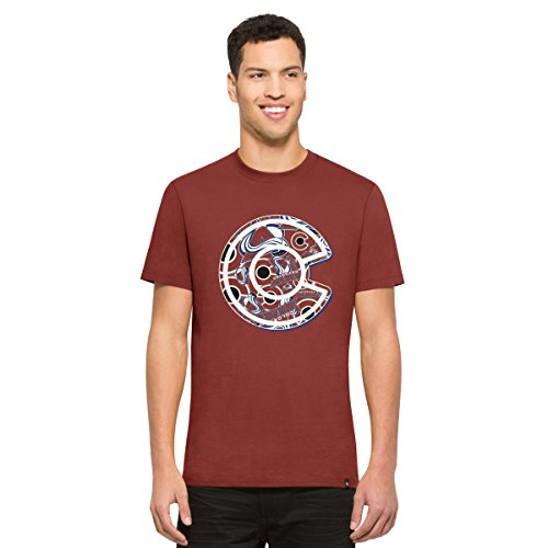 '47 NHL Colorado Avalanche Men's Crosstown Flanker Tee, Cardinal, Medium