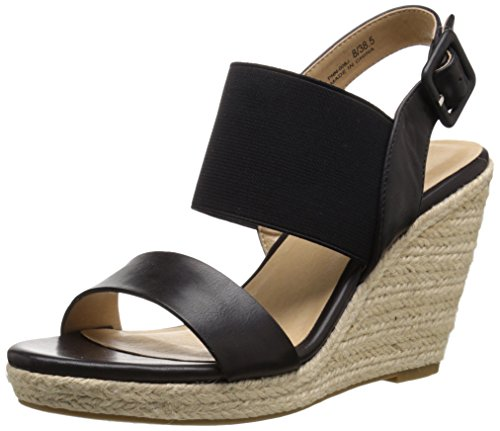 Sandal Burnished CL Black Wedge Portia by Women's Chinese Laundry xqawqf8BY