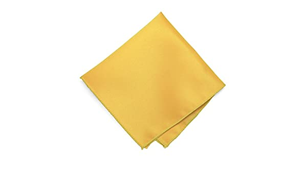 TieMart Lemon Yellow Solid Color Pocket Square