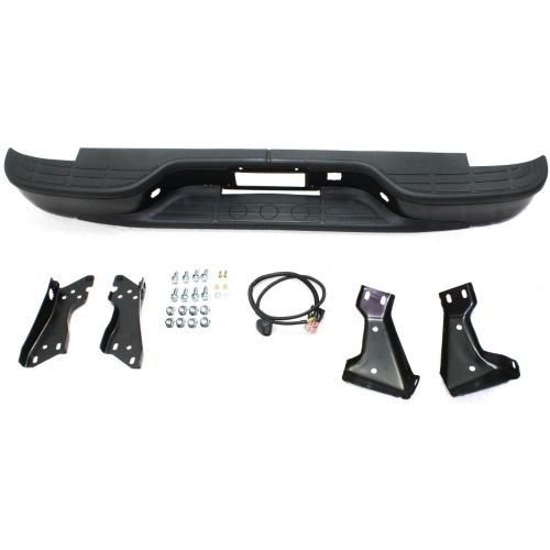 Make Auto Parts Manufacturing - SILVERADO/SIERRA 1500 99-05 STEP BUMPER, Assy, Black, Steel, Stepside - GM1103125 (Stepside Kit Bed)