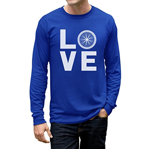 Love Cycling - Bicycle Riders Gift Idea - Bike Lover Long Sleeve T-Shirt Small Blue