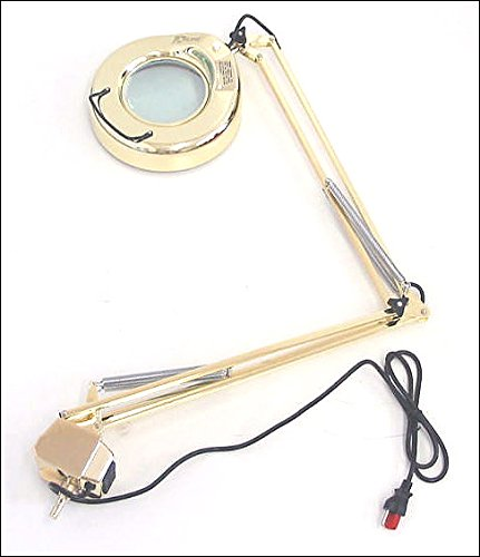 Brass Gold 3 Diopter Magnifier Magnifying Lamp Light Glas...
