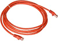 eDragon 7' Cat5e Red Ethernet Crossover Cable, Snagless/Molded Boot, Pack of 1 (ED696153)