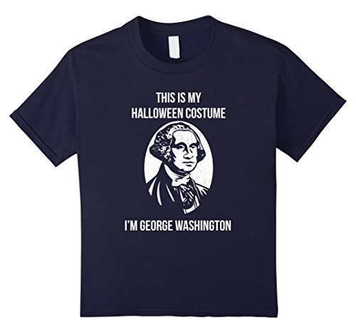 George Washington Costume Youth (Kids George Washington - This is My Halloween Costume 12 Navy)
