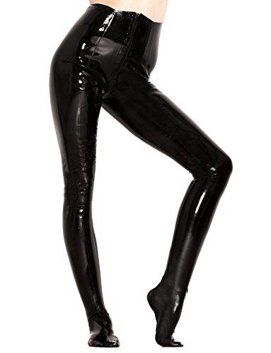 Jeggings goma látex con pie, negro, talla S M L XL | Fetiche sexy Multicolored