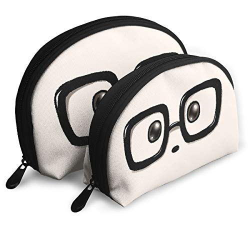 Geek Chic Panda Eyes Carrying Case Clutch Bag Storage Bag Cosmetic Bag Purse Travel Storage Bag One Big And One Small -