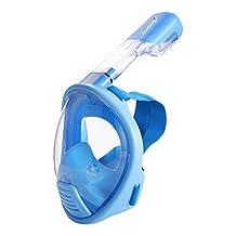 LUOOV Full Face Easybreath Snorkel Mask for Children