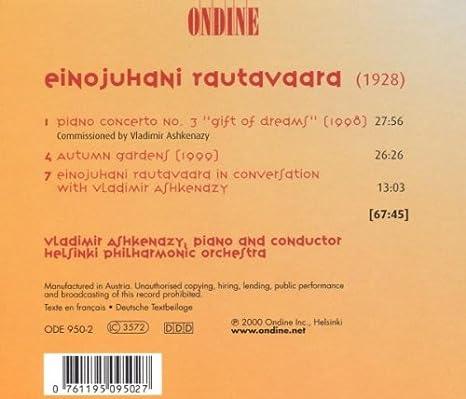 Rautavaara: Piano Concerto No 3