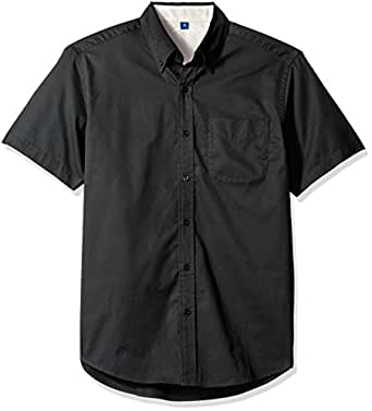 Men 39 s short sleeve wrinkle resistant easy care shirts in for Wrinkle free dress shirts amazon