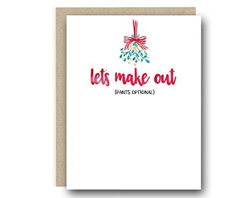 Naughty Pants (Naughty Christmas Greeting Card - Let's Make Out (Pants Optional))