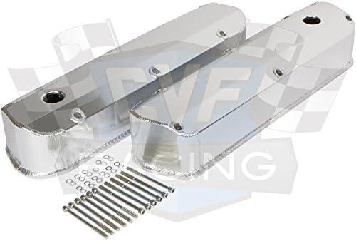 Tall w// Hole Ford SB 289 302 351 Windsor Polished Fabricated Valve Covers