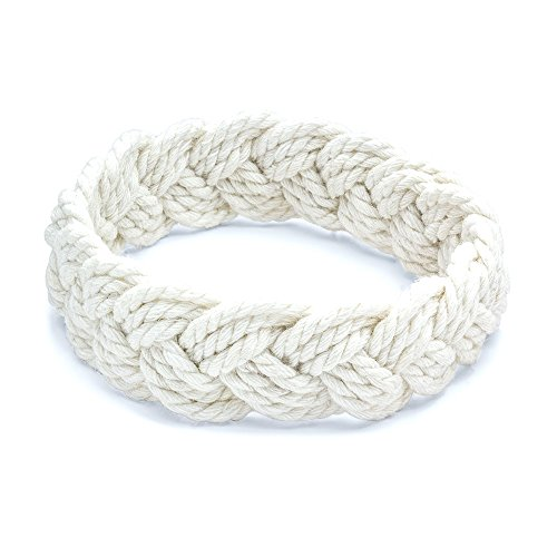 World End Imports Medium White Sailor Knot -