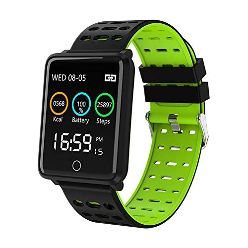 dulawei3 Waterproof Wristband Bluetooth Smart Bracelet Sports Watch with Heart Rate Activity Tracking Blood Pressure Sleep Monitor GPS Fitness Ultra-Long Battery Life for Women Men Gifts Green