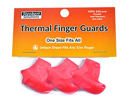 Stenbert Solutions Thermal Finger Guards - Protect Your Fingers from Heat! (Red)