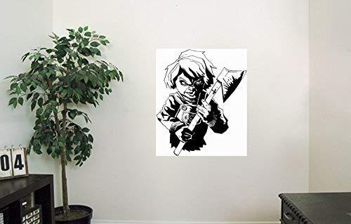 Scary Doll Vinyl Wall Decals Ax Halloween Horror Decal Sticker Vinyl Murals Decors IL0354
