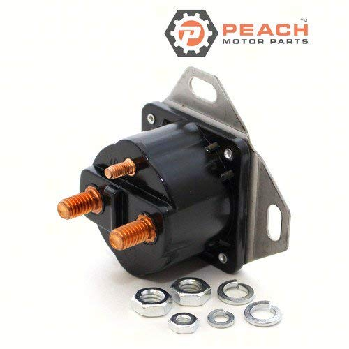 Peach Motor Parts PM-0584128 Solenoid, Starter; Replaces Johnson Evinrude OMC: 0584128, 584128, 0778025, 778025, 0981410, 981410, 0982187, 982187, 0985063, 985063, Arco: SW268, Sierra: 18-58 Made b