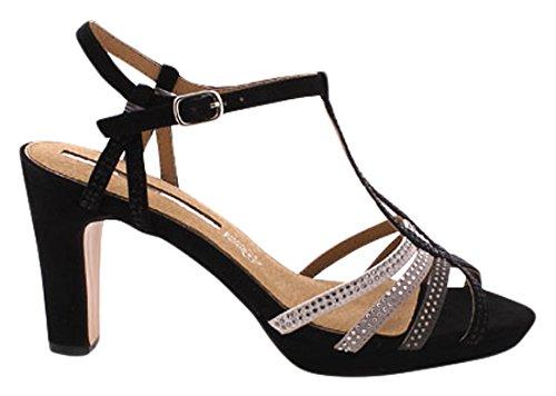 mm 66207 - Zapatos de Vestir Para Mujer Suedi negro/Gris