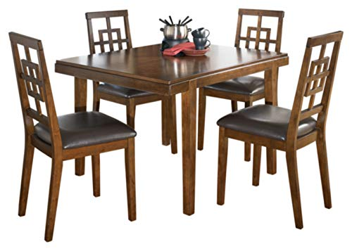(Ashley Furniture Signature Design - Cimeran Dining Room Table and Chairs Set - 1 Table and 4 Chairs - Set of 5 - Medium Brown)