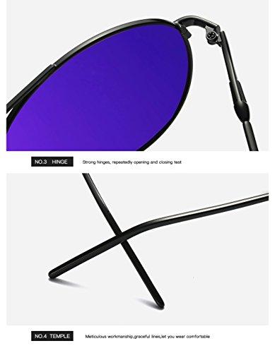 UV Gafas Sol De C2 para Polarizadas 400 para Aviator Hombre Mujer C4 Protección qzHqdFr5w