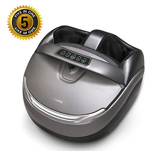 Naipo Foot Massager Shiatsu Feet Massager Machine Deep Kneading Massage with Tapping,...