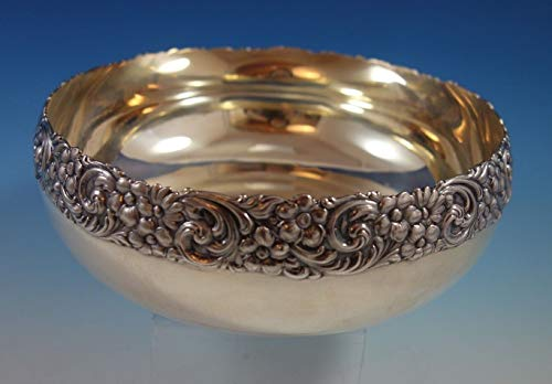 Repousse by Shreve Sterling Silver Fruit Bowl Dated January 1893 (#2381)