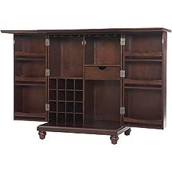 Crosley Furniture Cambridge Expandable Top Bar Cabinet - Vintage Mahogany