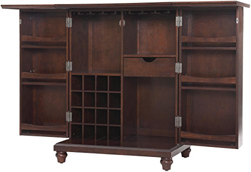 Vintage Bar Cart >> Crosley Furniture Cambridge Expandable Top Bar Cabinet ...