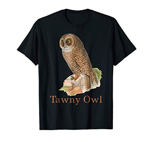 - Tawny Owl T-Shirt Bird Tee Ornithology