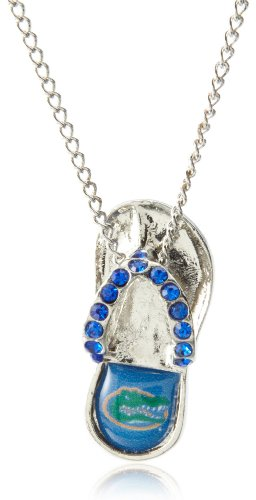 aminco NCAA Florida Gators Crystal Flip Flop Necklace