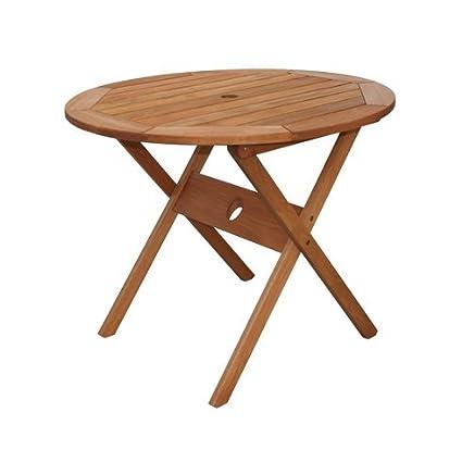 Amazon.com: Vamundo – Mesa de restaurante (redonda de madera ...