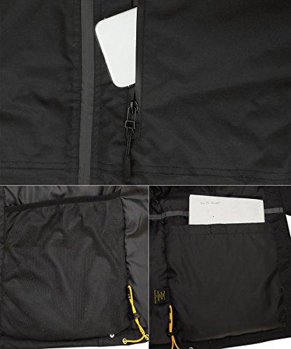 HARD LAND Mens Waterproof Down Parka Jacket Heavy Winter Coat Snowboard Jacket With Removable Hood Black Size XXXL by HARD LAND (Image #5)