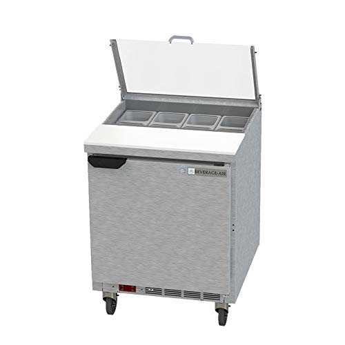 - Beverage Air SPE27HC-B-CL Elite Series Clear Lid Sandwich Top Refrigerated Counter, 27