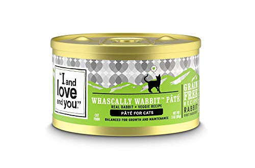 """I and love and you"" Naked Essentials Canned Wet Cat Food – Grain Free, Rabbit Recipe, 3-Ounce, Pack of 24 Cans"