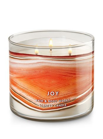 Bath and Body Works 3 Wick ''JOY'' Scented Candle Sunstone14.5 Ounce