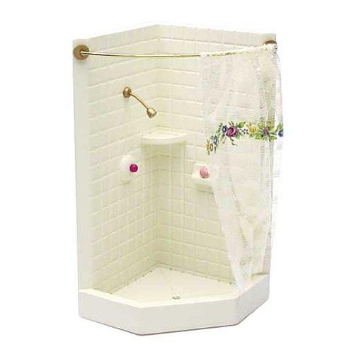 Amazon Dollhouse Miniature Corner Shower Stall Toys Games