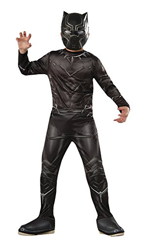 [Rubie's Costume Captain America: Civil War Value Black Panther Costume, Large] (Black Panther Costume Marvel)