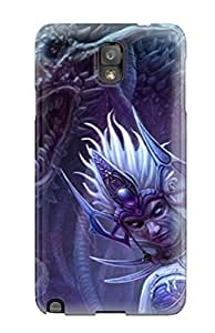 HrnymYF462VvdgK Tpu Case Skin Protector For Galaxy Note 3 A Sorceress And Her Demon Dark Witch Abstract Dark With Nice Appearance